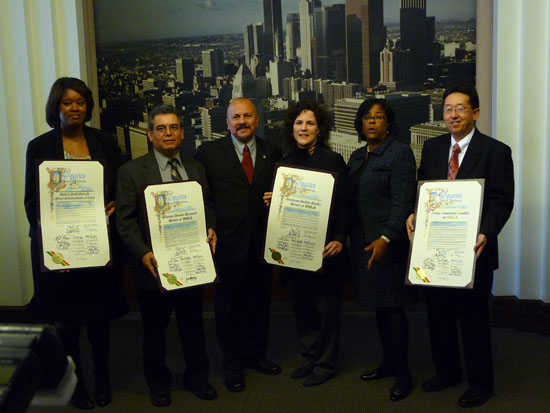 Los Angeles City Council Honors Ethnic Studies Centers (February 25, 2011)